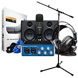 Presonus Audiobox USB 96 Ultimate Bundle Recording-Set para cantos + KEEPDRUM Mikrofonständer
