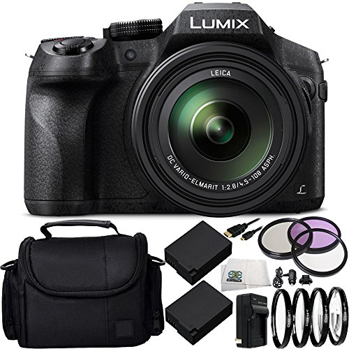 Panasonic Lumix DMC-FZ300 Digital Camera 15PC Accessory Kit Includes 2 Replacement BLC-12 Batteries, AC/DC Rapid Home & Travel Charger, MORE