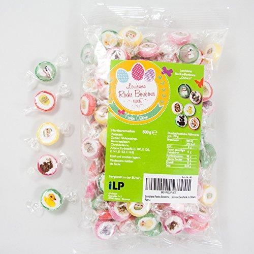 Louisiana WeddingTree, caramelle in design pasquale – 500 g Rocks caramelle avvolte a mano – Decorazione da tavolo per Pasqua