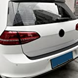 Auto Rear Bumper Trunk Tail Lip Carbon Fiber Protection Stickers Decal Car Styling For Volkswagen VW Golf 6 MK6 MK7 Golf 7 GTI