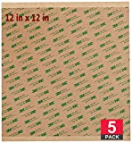 WEUPE Adhesive Transfer Tape, Double Sided Transfer Sheet, 12' x 12' 468MP (5 Pack)