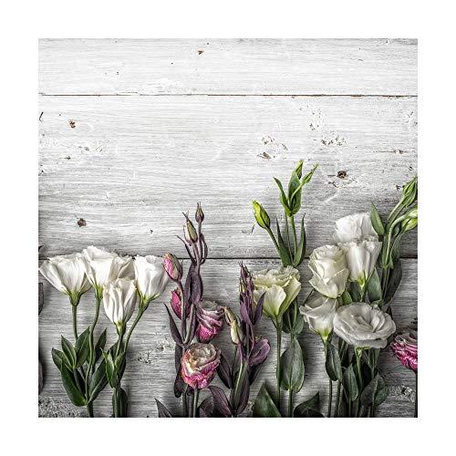 Carta da parati in tessuto non tessuto, effetto legno di tulipano, stile shabby chic, con foto in 3D, per camera da letto, soggiorno, dimensioni: 240 x 240 cm