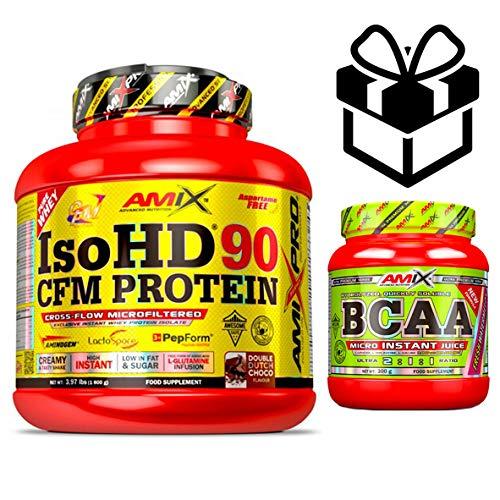 Amix Pro Iso HD 90 CFM Protein 1800gr Vainilla + Bcaa Instant + Mezclador