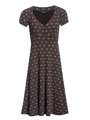 Vive Maria Sugar Rose Dress Black Allover, Größe:XS