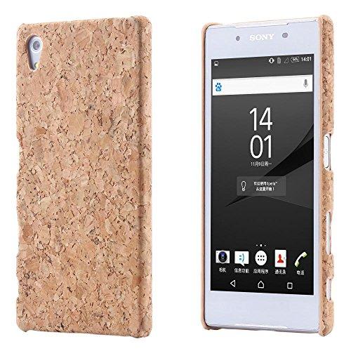 ECENCE Kork Handyhülle Schutzhülle Hülle Cover kompatibel für Sony Xperia Z5 Premium 22040408