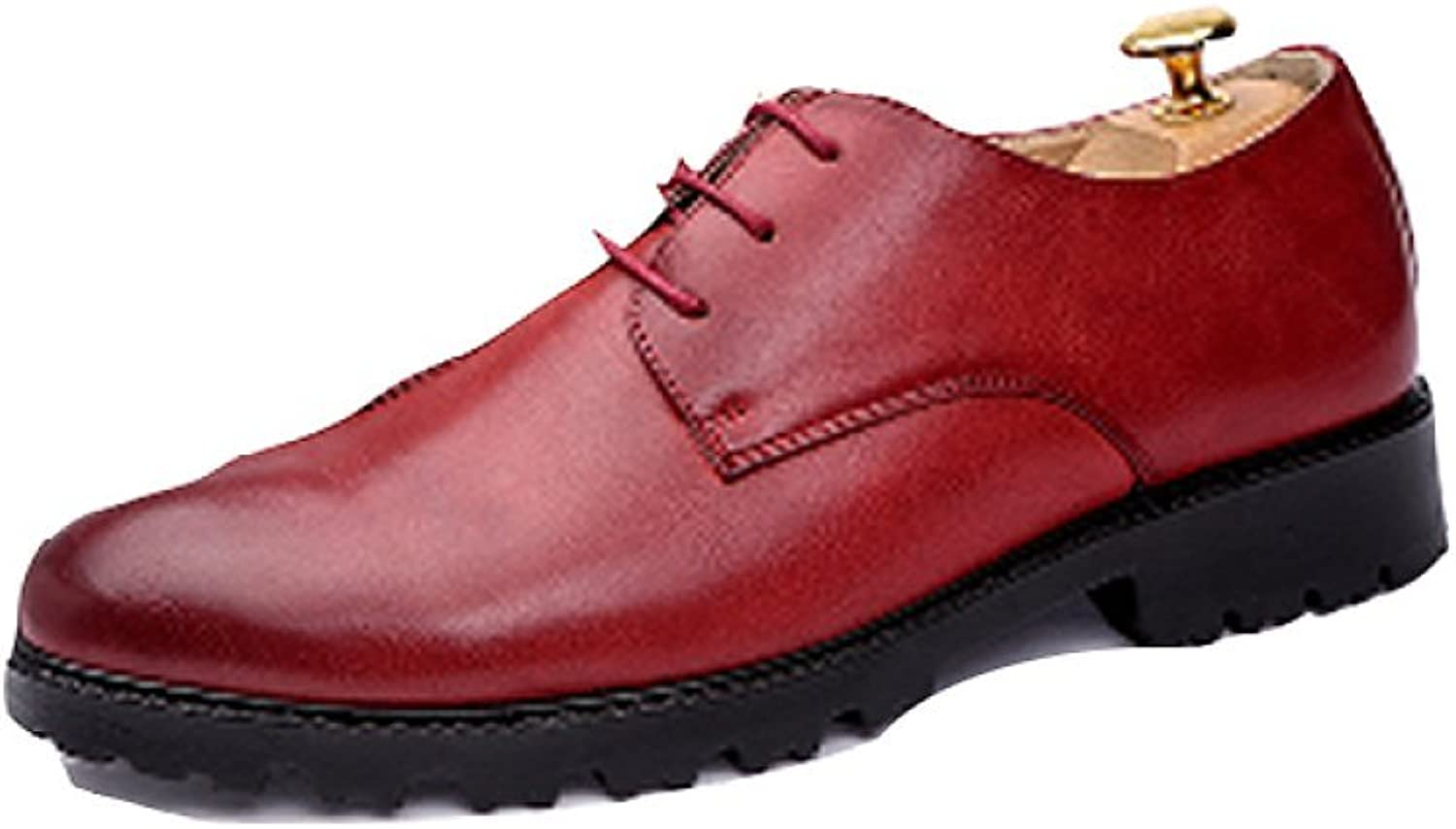 NIUMJ Men Summer Casual Fashion Business Bullock Outdoor Breathable Lace Leather shoes