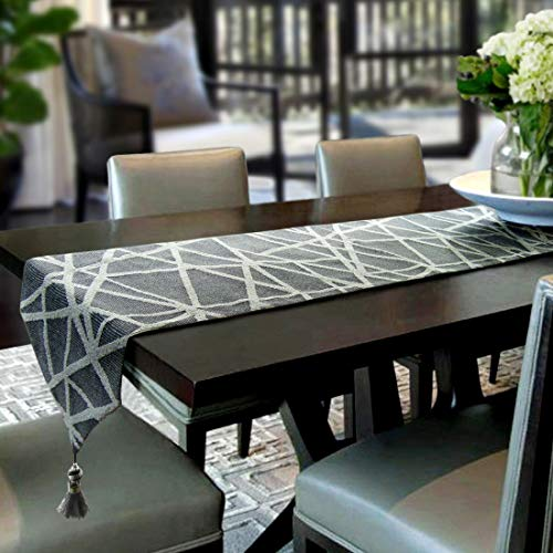 Artbisons Table Runner 108x13 Gray Handmade Thickly Table Linens