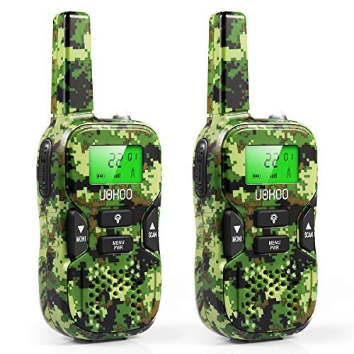 Kids Walkie Talkies 22 Channels 3 Miles FRS/GMRS Hand Held Walkie Talkie for Kids Toys for 4-5 Year Old Boys …