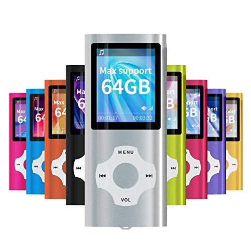 Mymahdi – Digital, Compact et Portable Lecteur MP3/MP4 (Max Support 64 Go Carte Memory) avec Photo Viewer, E-Book Reader et Radio FM Enregistreur Vocal et vidéo vidéo en Argent