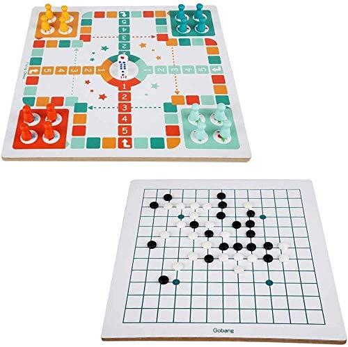 N\A ZT 2 in 1 Fliegende Schach Snake Ladder Gomoku Interaktives Spiel Kinder Pädagogisches Spielzeug Fliegende Schach + GOBANG (Color : A)