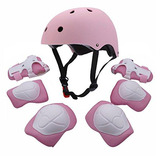 Conjunto protector deportivo para jóvenes de FampU, codera, rodillera, muñequera, almohadilla de seguridad, protector para patinar, bicicleta, BMX, monopatín, aeropatín, actividade al aire libre,rosa 🔥