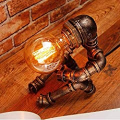 Vintage Table Lamp Retro Industrial Iron Water Pipes Robot Table lamp Steampunk Desktop Light(Not Included Bulb) #2
