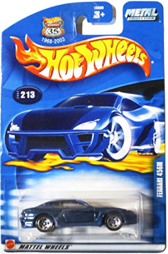 Hot Wheels 2002-213 Blue Ferrari 456M Highway 35 Metal Collection 1:64 Scale