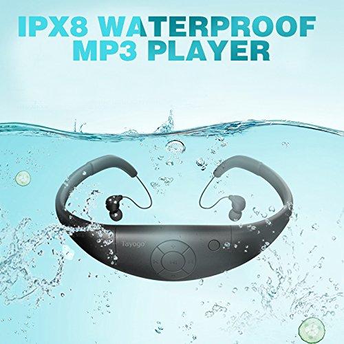 【国際防水等級IPX8】水泳イヤホンヘッドホン一体型防水MP3音楽プレーヤー8GBメモリースポーツヘッドホン水泳&温泉&シャワー&お風呂プール&運動&通勤&通学WPM8(黒い)