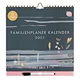 Boxclever Press 12-monatiger Familienplaner Kalender 2021. NEU FÜR 2021! Schöner Wandkalender 2021 mit 6 Spalten. Familienplaner 2021 von Jan. - Dez.21 mit Tasche & Planerstickern. (2021-12-monatiger)