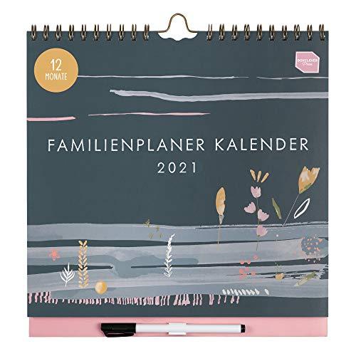 Boxclever Press 12-monatiger Familienplaner Kalender 2021. NEU FÜR 2021! Wandkalender 2021 mit 6 Spalten. Kalender 2021 Wandkalender von Jan. - Dez.21. Familienplaner 2021 mit Tasche & Planerstickern