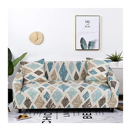 ZHAO Stretch-Plaid-Sofa-Slipcover, elastische Sofaabdeckungen für Wohnzimmer, Sofa-Stuhl Couch Cover Home Decor 1/2 / 3/4-Sitzer (Farbe : Color 20, Specification : 1 seat 90 140cm)