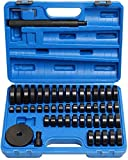 Tr Toolrock Lot de 52 pièces avec disques de montage pour enfoncer les roulements de roue 18 à 65 mm