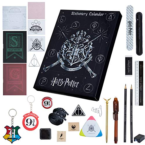 Harry Potter Advent Calendar 2020, Stationery Advent Calendars For Boys And Girls With 24 Surprises Including Hogwarts Stickers, Pens, Notebook, Pin Badge, Keyring, Fun Countdown Calendars For Kids
