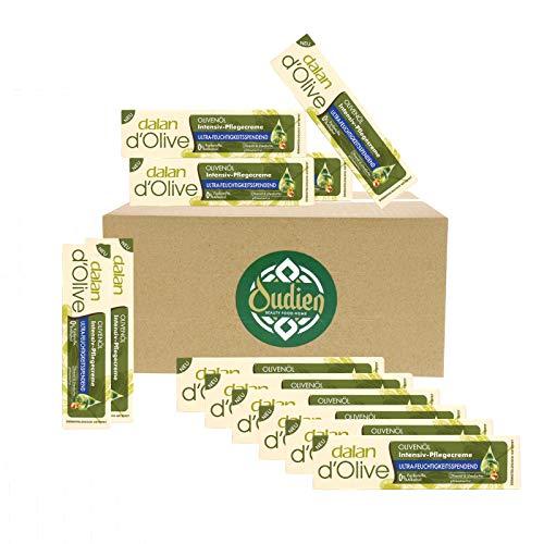 OUDIEN 12er Set dalan d'olive Intensiv-Pflegecreme 20ml, Intensivcreme für Hände und Körper mit Olivenöl, Feuchtigkeitscreme