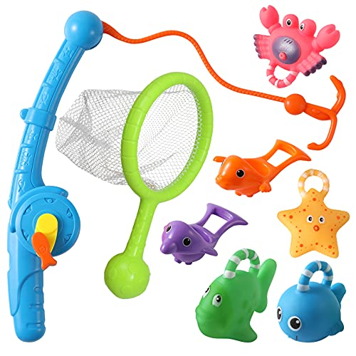 FWZXBK Toys for 2-9 Year Old Boys Girls, Bath Toys for Kids Ages 4-8 Gifts for 3-9 Year Old Boys Girls Fishing Toys for Kids Water Toys Age 3-8