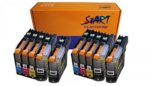 10 XL Ersatz Chip Patronen kompatibel zu Brother LC-223 LC-225 LC-227 XL - Nur bis Firmware Version E - BK Schwarz, C Cyan, M Magenta, Y Gelb für Brother DCP-J4120DW, MFC-J4420DW, MFC-J4425DW, MFC-J4620DW, MFC-J4625DW, MFC-J5320DW, MFC-J5620DW, MFC-J5625DW, MFC-J5720DW