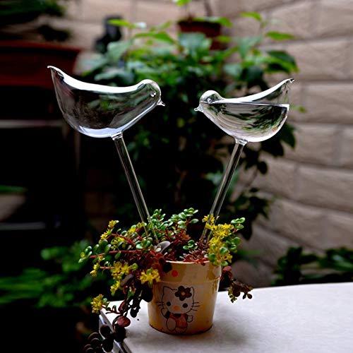 Bulbos de riego de Plantas Estacas de riego automático de Vidrio Globo de Agua Dispositivo de riego automático para Plan Interior y Exterior -Clear