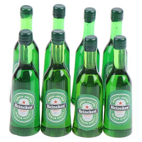 JIAOAO Botellas de vino de casa de muñecas modelo 1:12 mini botellas de vino modelo casa de muñecas miniatura para decoración de casa de muñecas
