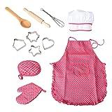UKKD Delantal 11 Unids Play Play Niños Cocina Cocina Para Hornear Cocina Cocina Conjunto Nuevos Niños Niños Cocina Horneado Set
