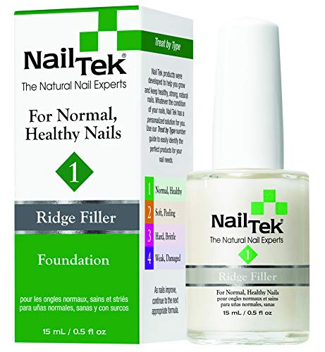 Nailtek Foundation No.1 Ridge-Filling Nail Strengthener Base Coat, 0.5 Fluid Ounce