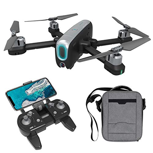 4K GPS Drone with Dual Camera for Adults & Beginners, 3280ft RC Distance, 5G WiFi FPV Live Video Foldable Quadcopter, Follow Me, 25+25 Mins Long Time Flight (Color : Black)