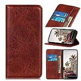 iLovecover Handyhülle für ZTE Nubia Red Magic 5G (6.65 Zoll) Hülle,Premium Leder Flip Schutzhülle Leder Wallet Tasche Klapphülle Silikon Bumper Handytasche,Braun