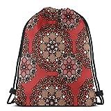 Wodann Oriental Lightweight Drawstring Bag Sport Gym Sack Bag Mochila 14.2 x 16.9 pulgadas