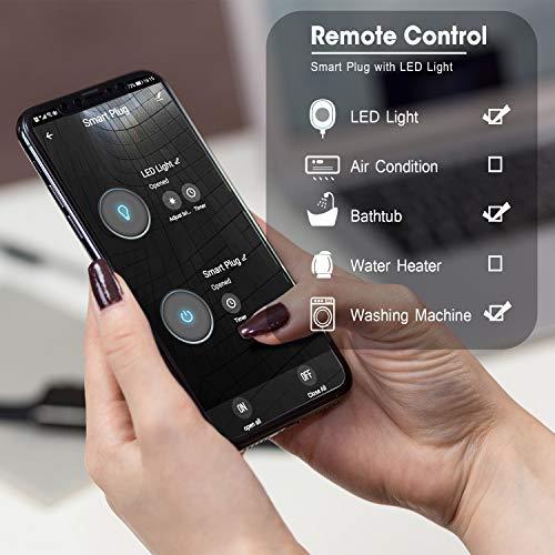 Enchufe Inteligente Wifi con Puerto USB, Maxcio