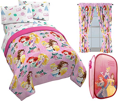 Purchase Jay Franco Disney Princess Sassy Full Bed Set, Drapes and Pop Up Hamper Bundle