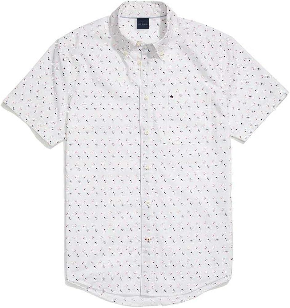 Tommy Hilfiger Men's Adaptive Magnetic Short Sleeve Button Shirt Custom Fit