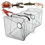ZZQQ Peces Trampa Neta De Pesca De Pesca Cangrejo Camarón Cangrejo Langosta Plegable Pesca Plegable Accesorios Redes de Pesca