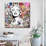 N / A Pintura sin Marco Pintura Mural Abstracta Pintura Mural Pintura de Personajes Pintura Impresa póster decoración del hogar Sala de estarCJX2289 70X70cm