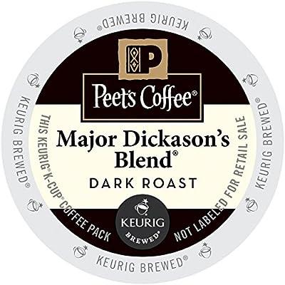 Peet's Major Dickason's Blend Coffee 44 K-Cups for Keurig Brewers
