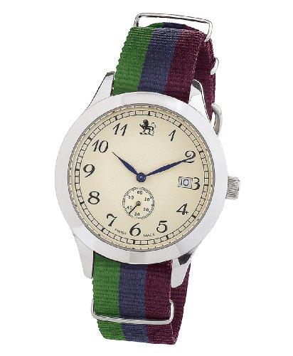 Smart Turnout Herren Armbanduhr Analog Nylon-Gurt in den Farben Royal Regiment of Scotland/SC 56/W