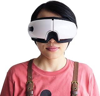 FDCJK Masajeador de Ojos Profesional Gafas de Masaje electricas Plegables Portátil con Compresión del Calor para Ojo Seco Relajarse Visión Ojo Oscuro Círculos Estrés Alivio