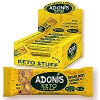 Adonis Low Sugar - Barritas de Nueces del Brasil Crujiente sabor Cúrcuma y Naranja | 100% Natural, Baja en Carbohidratos, Sin Gluten, Vegano, Paleo, Keto (5)