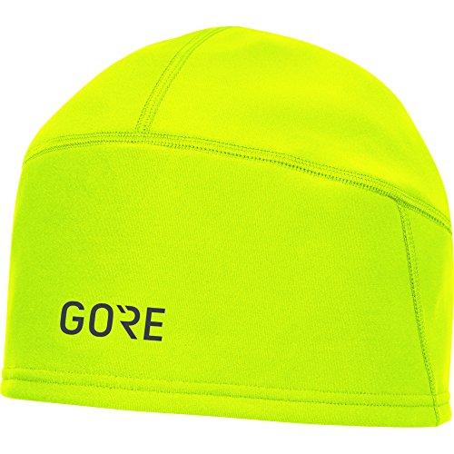 GORE Wear Winddichte Herren Fahrrad-Mütze, M WINDSTOPPER Beanie, Größe: ONE, Farbe: Neon-Gelb, 100340