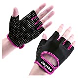 Dopobo Weightlifting Gloves Sports Gloves Unisex Half-Finger Women Girls Gym Fitness Exercise Workout