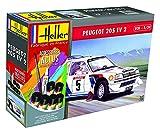 Outletdelocio. Heller 56716. Maqueta Coche Peugeot 205 EV2. Kit de Montaje. Pinturas y Pegamento Incluido. Escala 1/24