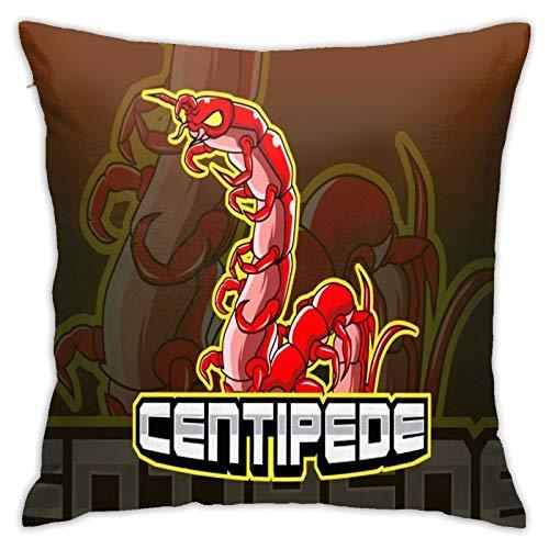 longdai Centipede - Funda de almohada deportiva de microfibra para sofá, jardín, cama, sofá, 45 x 45 cm