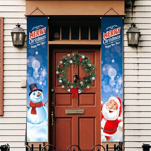 Molinter Guirnalda navideña para colgar en la puerta de interior y exterior, jardín, decoración para fiestas (estilo 2)