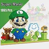 Nano Blocks Building Game 3D Modello Figura di Assemblare Micro Nano Building Blocks Mini Super Mario DIY Giocattolo Mattoni del per Regali Bambini Educativi del Regalo Compleanno,Verde