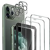 MSOVA Compatible avec iPhone 11 Pro Verre Trempé/Caméra Arrière Protecteur, Vitre HD Dureté 9H...