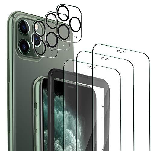 MSOVA Schutzfolie Kompatibel mit iPhone 11 Pro Panzerglas/Kamera Panzerglas, 3 Stück 9H Hartglas Anti-Staub Bildschirmfolie Kompatibel mit iPhone 11 Pro 5.8 Schutzfolie.